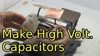 Wie man Hochspannungs-Kondensatoren - Selbstgemacht/DIY-Kondensatoren