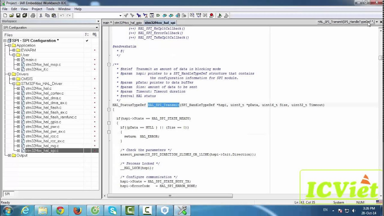 SPI với STM32F4 CubeMX - ICViet