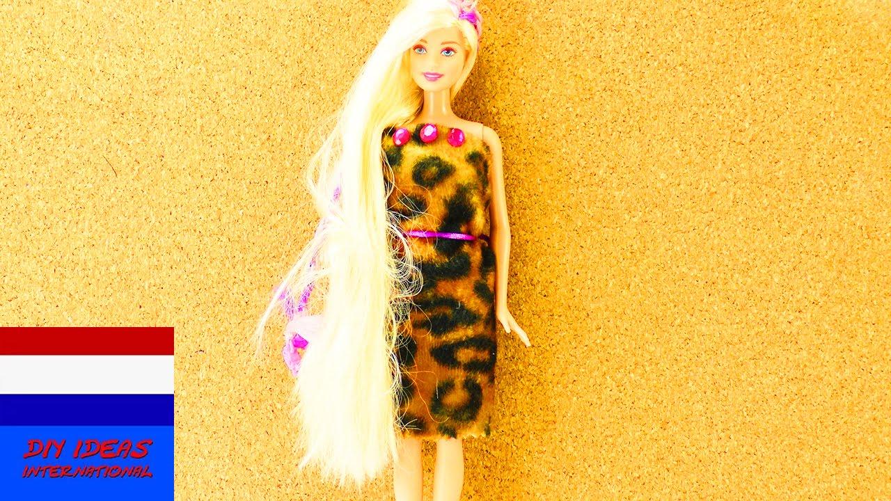 Zelf Barbie Jurk Maken In 5 Minuten Coole Barbie Outfit Zelf