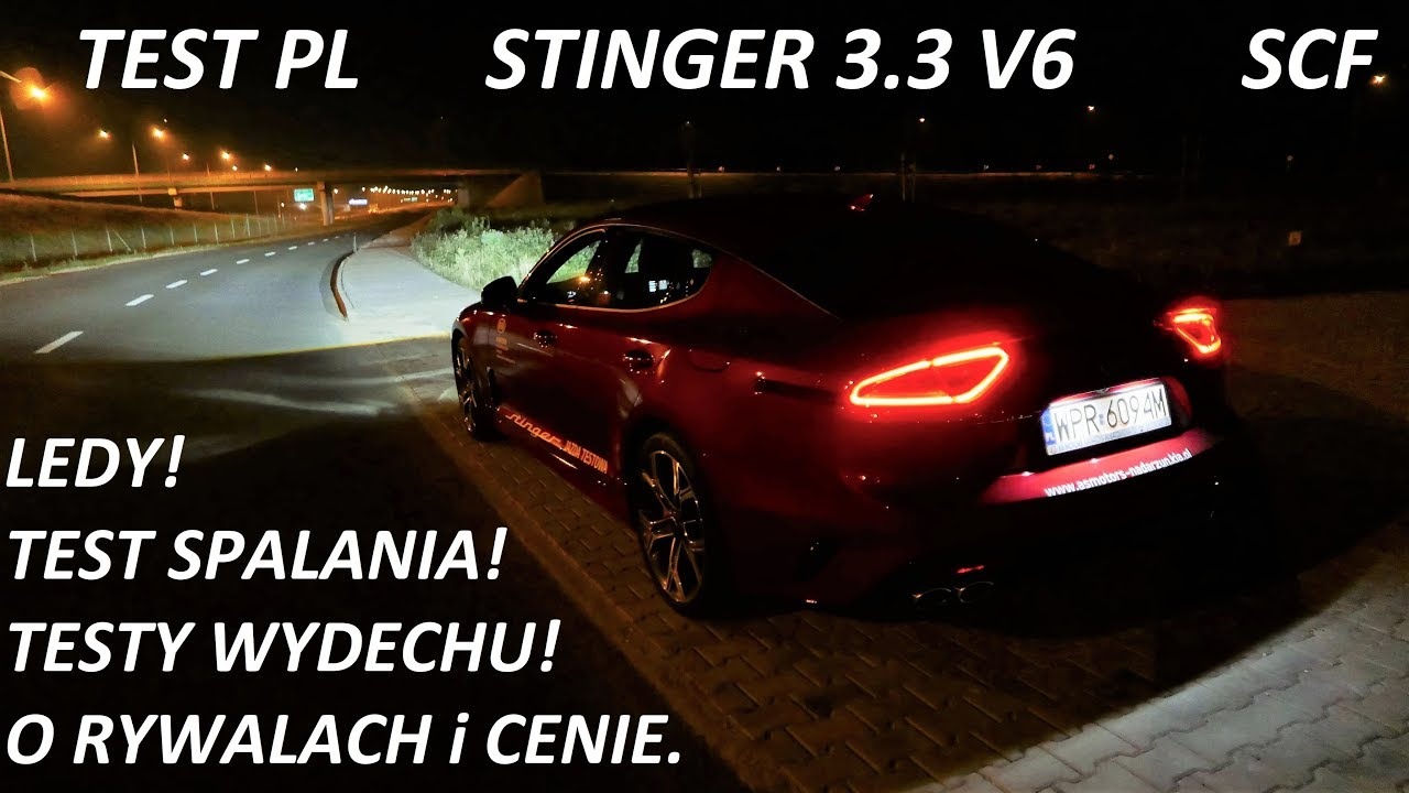 2018 KIA Stinger GT 3.3 V6 AWD Night Driving [Jazda Próbna] TEST PL