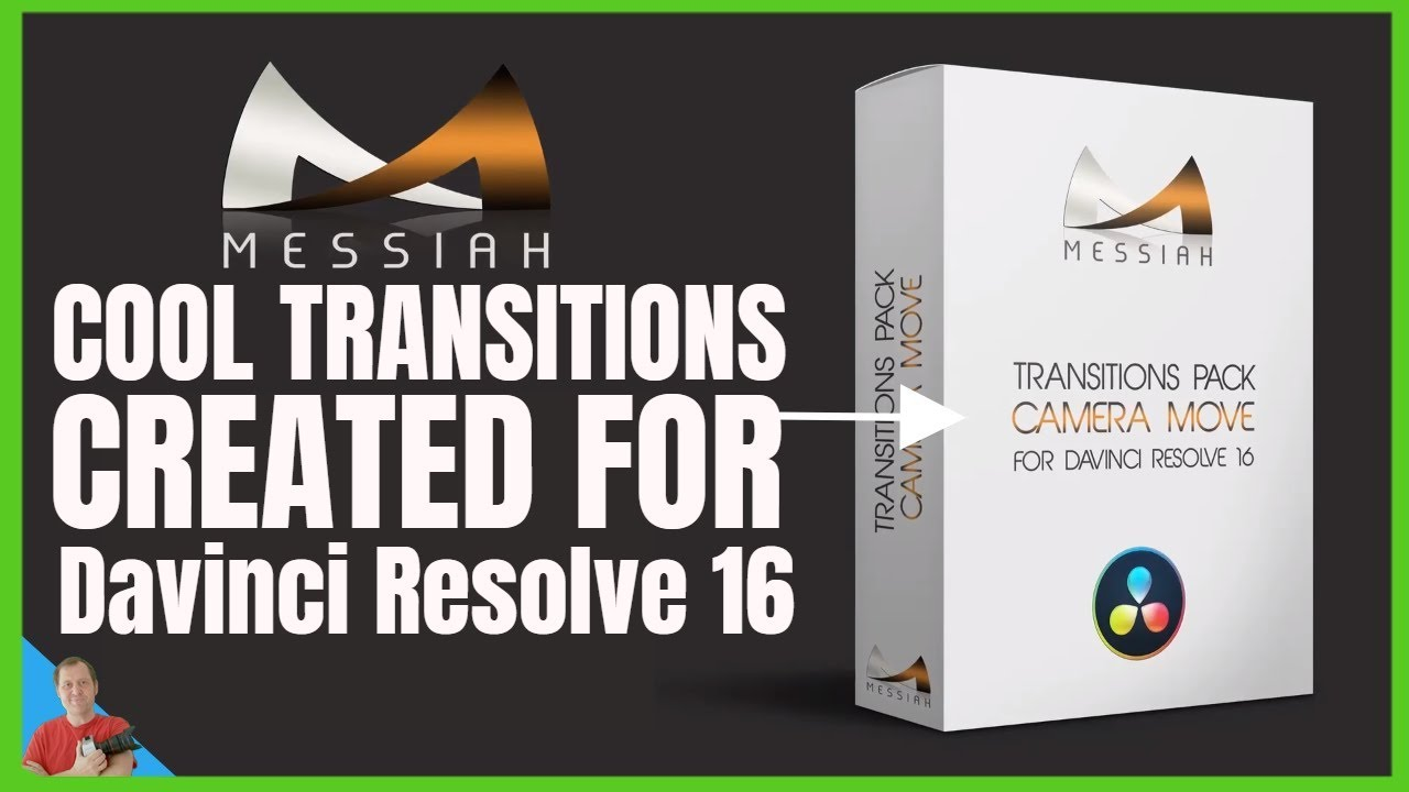 Davinci Resolve 16 a look at Messiah Transitions Pack CameraMove Transitions