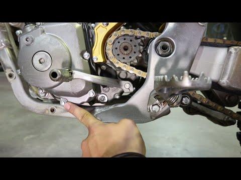 How to change oil on 4 stroke dirt bike, Suzuki RMZ 450 - Part 2