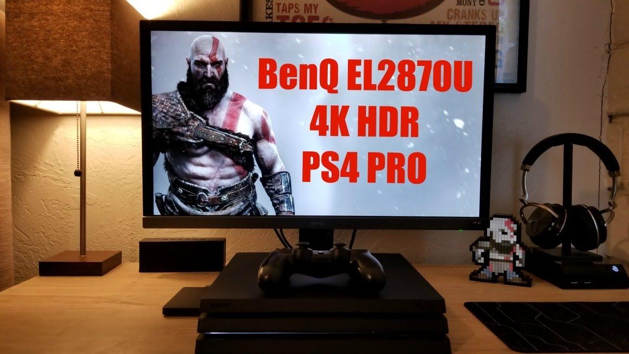 PS4 PRO on BenQ EL2870U 4K HDR Monitor