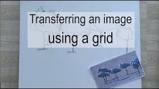 Transferring an image using a grid.