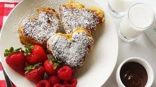 (日本語)valentine's French Toast | バレンタインデーのフレンチトースト