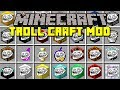 Minecraft TROLL CRAFT MOD!   TROLL PLAYERS WITH TROLL BLOCKS, MOBS, & MORE!   Modded Mini-Game