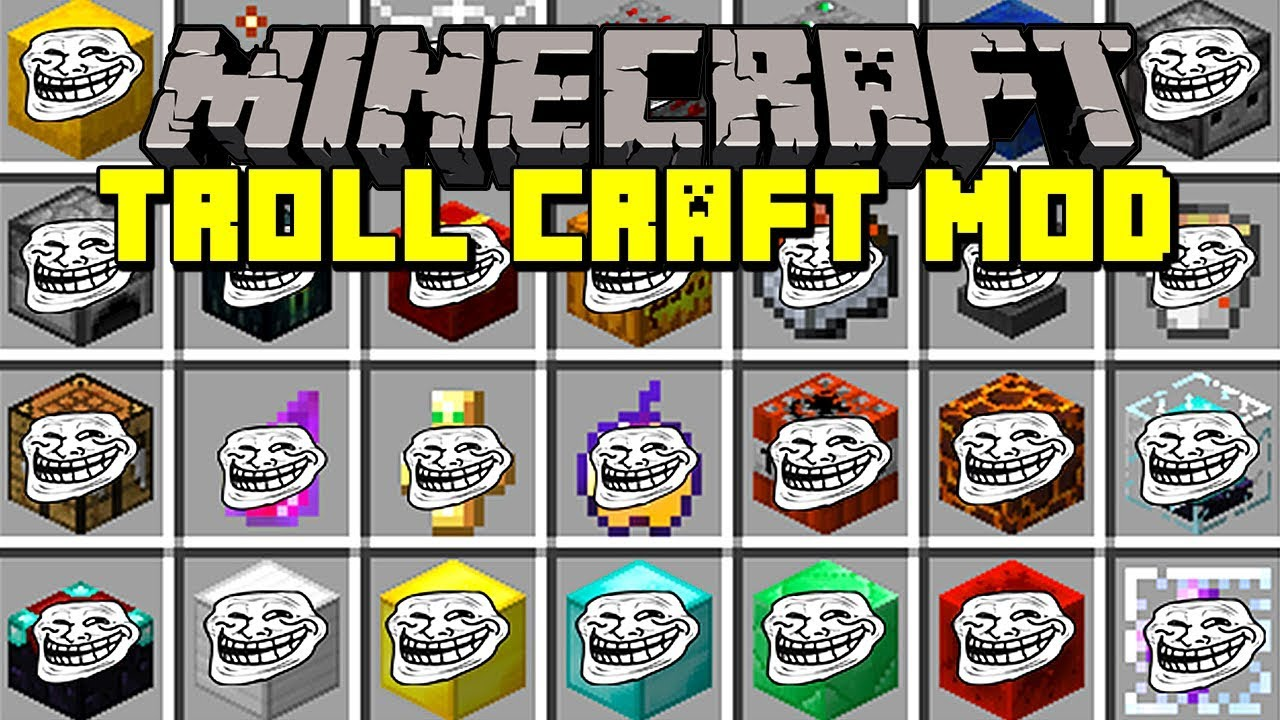 Minecraft TROLL CRAFT MOD! | TROLL PLAYERS WITH TROLL BLOCKS, MOBS, & MORE!  | Modded Mini-Game