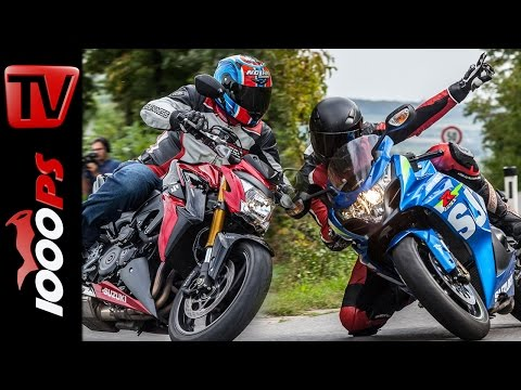 Suzuki GSX-R1000 vs GSX-S1000 2015 | Vergleich Supersport - Nakedbike