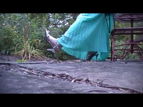 bcb20160944 Sea Foam Green skirt and Silver Sandals - YouTube