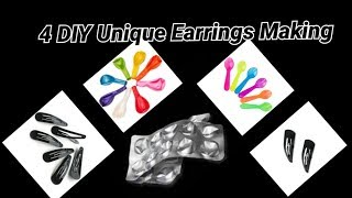 4 DIY Unique Earrings With Waste materials