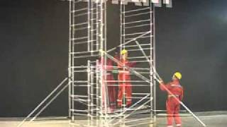 Build a Scaffold Tower in Compliance with EN1004 & WAHR - INSTANT UPRIGHT ZIP UP