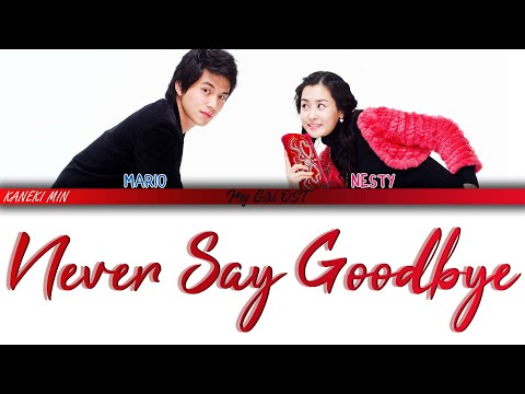 마리오 & 네스티 (Mario & Nesty) - Never Say Goodbye (My Girl OST 마이걸 OST)(COLOR CODED LYRICS) 가사