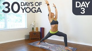 Yoga Essentials with Jess, Day 3 of 30, Learning Warrior Poses, Complete Beginners Yoga Class