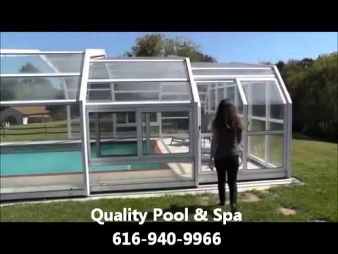 Residential retractable swimming pool covers youtube for Retractable swimming pool covers