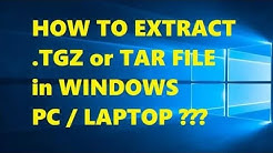 How to Extract .tgz or .tar File in Windows Operating System 2019 | Simple Method