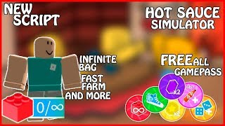 [NEW] Roblox Hot Sauce Simulator | Free all GamePass | InfiniteBag/x2Money/FastFarm/AndMore | [FREE]