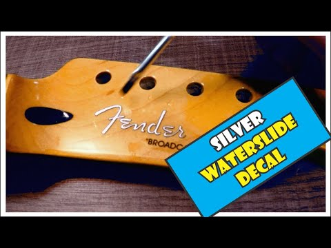 Fender Precision Bass headstock waterslide restoration decal