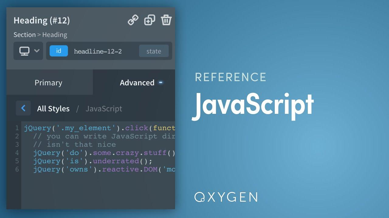 JavaScript - Oxygen