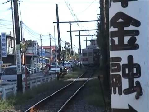 熊本電鉄 八景水谷駅 第三種踏切...