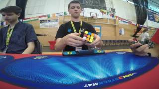 3x3 one-handed former world record average: 10.70 seconds