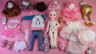 ★구체관절인형 봄아트돌 봄이 풀셋 개봉기/옷입히기/유딩이★Ball Jointed Doll  BOMI White Baby Full Set Unboxing/Doll Dress Up