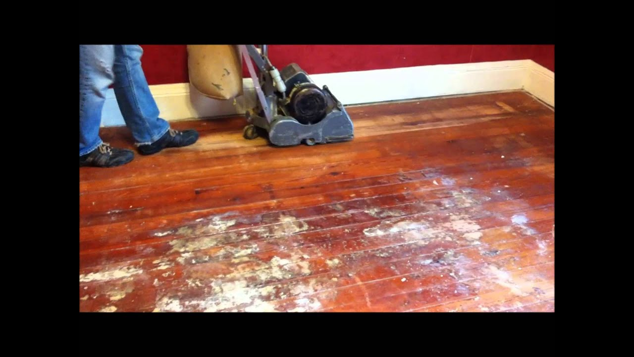 Refinishing Wood Floors Part 2 Youtube