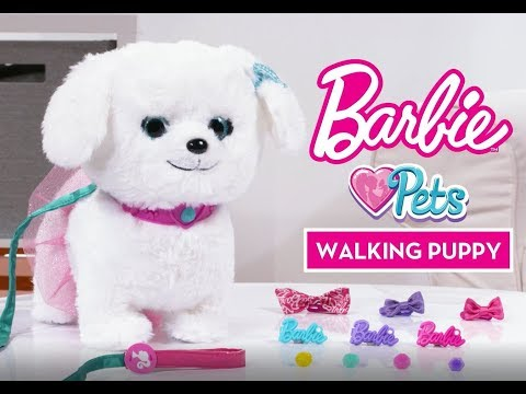 Barbie Walking Puppy Youtube