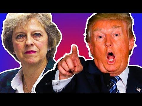 Trump Fires Back At Theresa May
