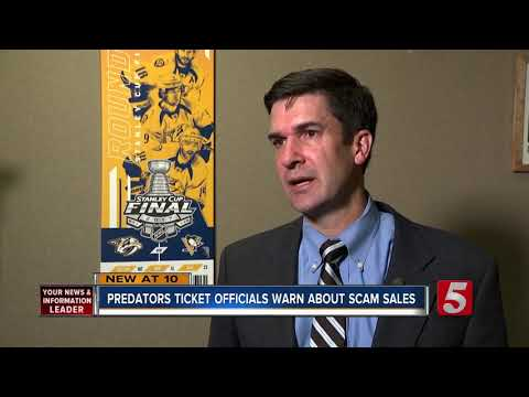 Preds Officials Warn Fans About Ticket Scams