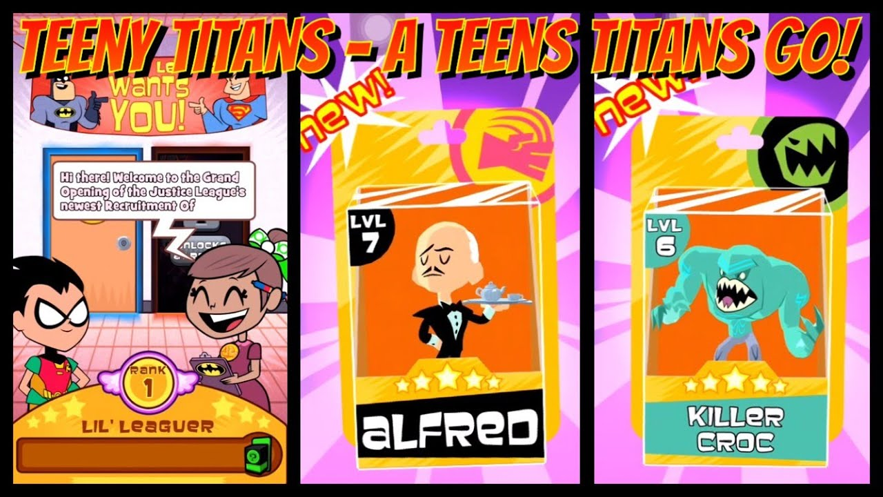 Teeny Titans - A Teen Titans Go-Get ALFRED and KILLER CROC-The .