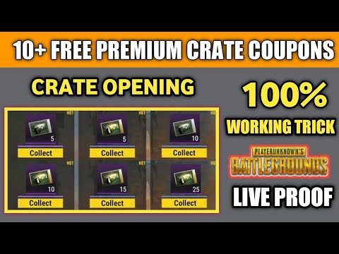 How To Get Free Premium Crates Coupon ! Pubg Mobile Free Crate Coupon Unlimited ! 10+ Crate Opening