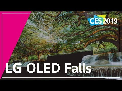 CES 2019 — LG's OLED Falls and Rollable OLED TV
