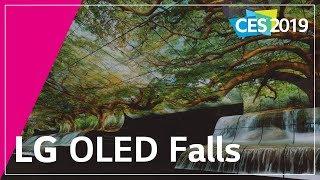 LG at CES 2019 - LG OLED Falls