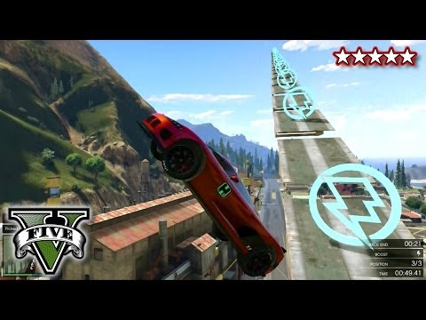 GTA 5 Fun Races LiveStream - (50 Story Ramp GTA V)
