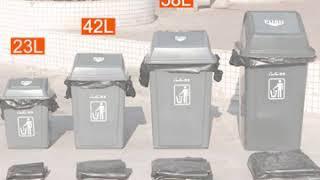 음식물 가정용 분리수거함 대형 쓰레기 통 42L