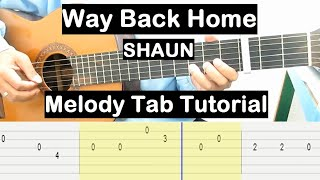 Way Back Home Guitar Lesson Melody Tab Tutorial Guitar Lessons for Beginners