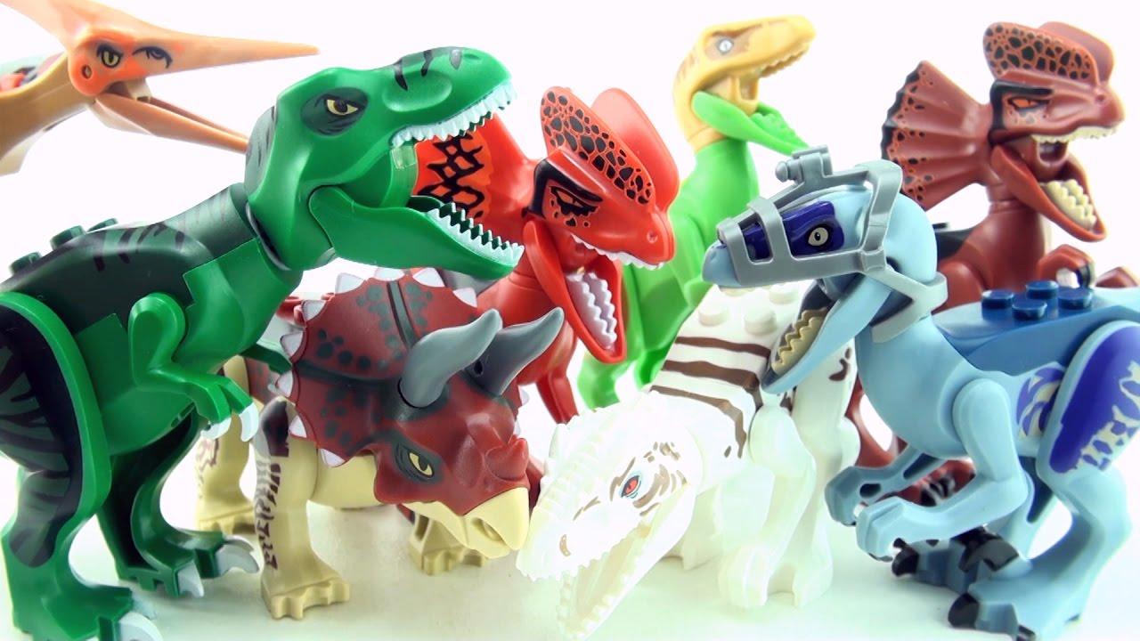 8 jurassic world lego dinosaur toys colorful lego - Lego dinosaures ...