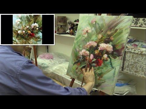 Мастер-класс по работе Ричарда Шмида. Masterclass oil painting from Oleg Buiko