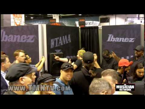 WINTER NAMM 2010 - SLIPKNOT @ IBANEZ Booth