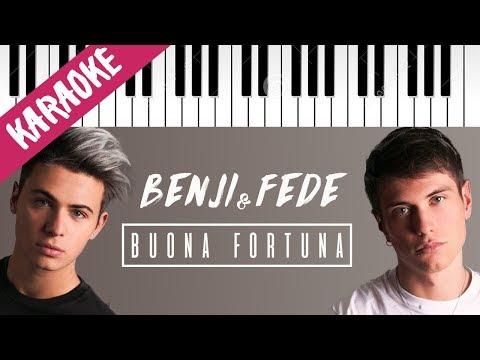 Benji & Fede | Buona Fortuna // Piano Karaoke con Testo