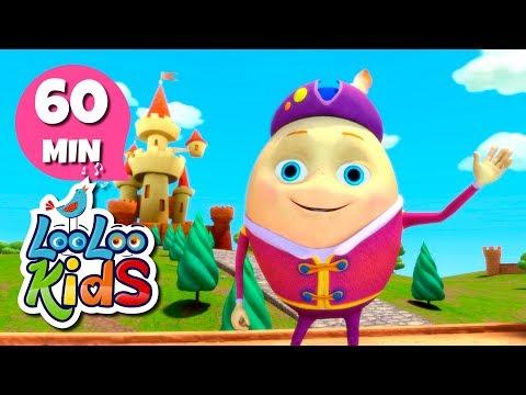 Humpty Dumpty - THE BEST Nursery Rhymes for Children   LooLoo Kids