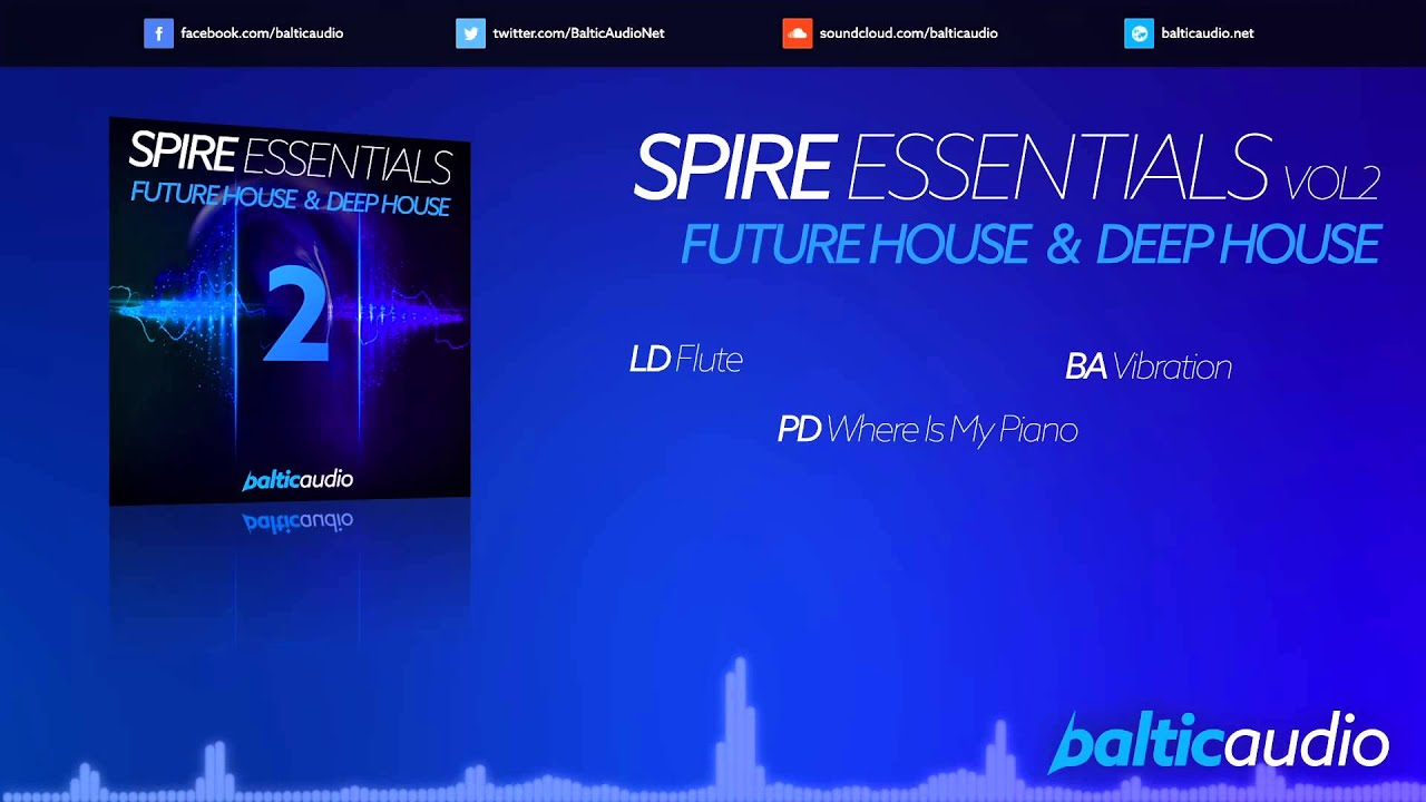 Spire Essentials Vol 2: Future House & Deep House (64 Spire presets, 40+ MIDI files)