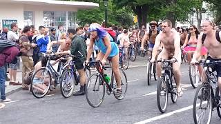 Naked Bike Ride 2013 HD (Brighton, UK)