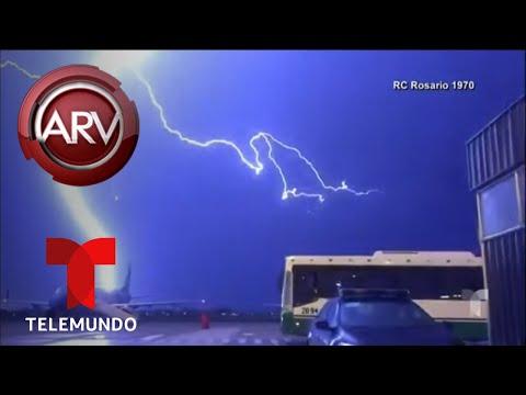 Fuerte tormenta eléctrica iluminó el cielo en Argentina | Al Rojo Vivo | Telemundo