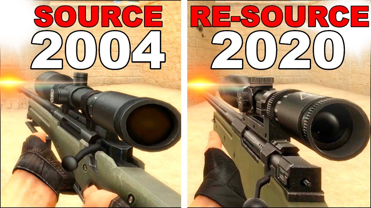 CS: Source vs. CS: Re-Source - Weapons Comparison 4K 60FPS