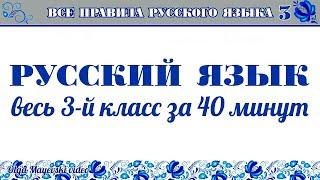 Все правила русского языка — 3-й класс за 40 минут