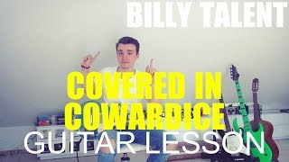 Billy Talent: Covered in cowardice; part 1; (GUITAR TUTORIAL/LESSON#24)
