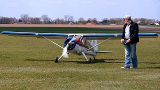 THE LARGEST XXXL RC SCALE 1:2,5 DHC-2 BEAVER MODEL PLANE 93 KG DEMO FLIGHT DMAX