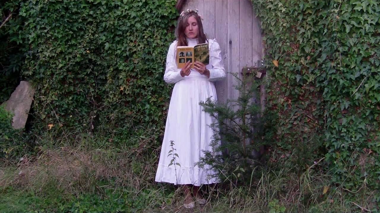 Laura Ashley wedding dress worn by Jane Air while Jane Air reads ...