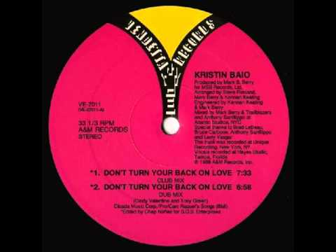 Kristin Baio - Don't Turn Your Back On Love 1988 Complete 12'' Maxi